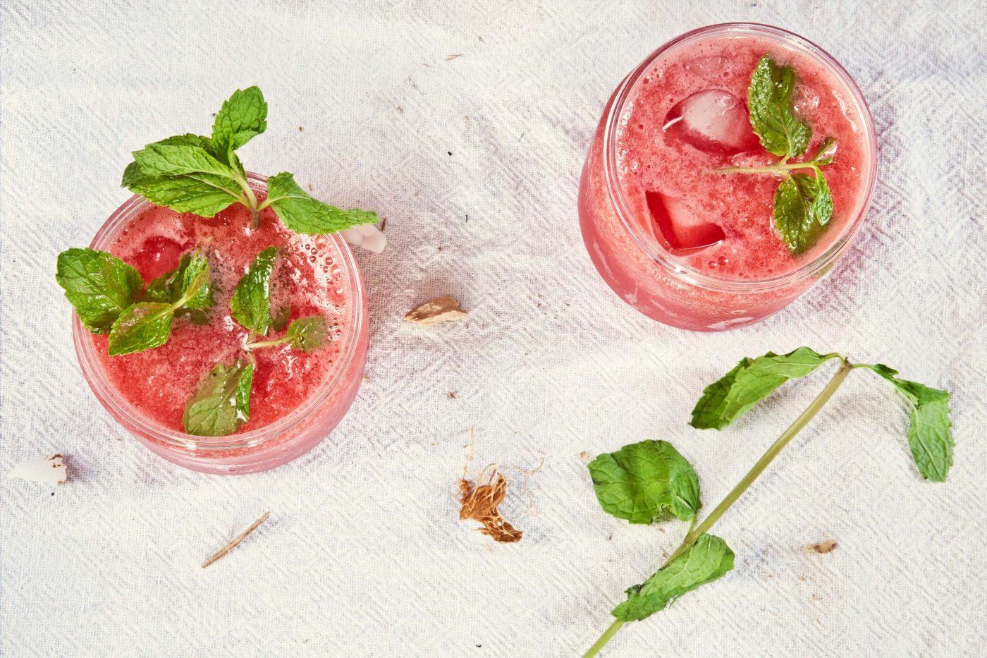 raspberry mint aqua fresca